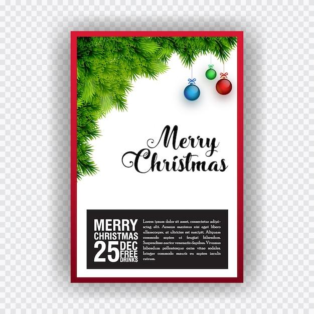 Tarjeta De Invitación De Fiesta De Navidad Elementos De