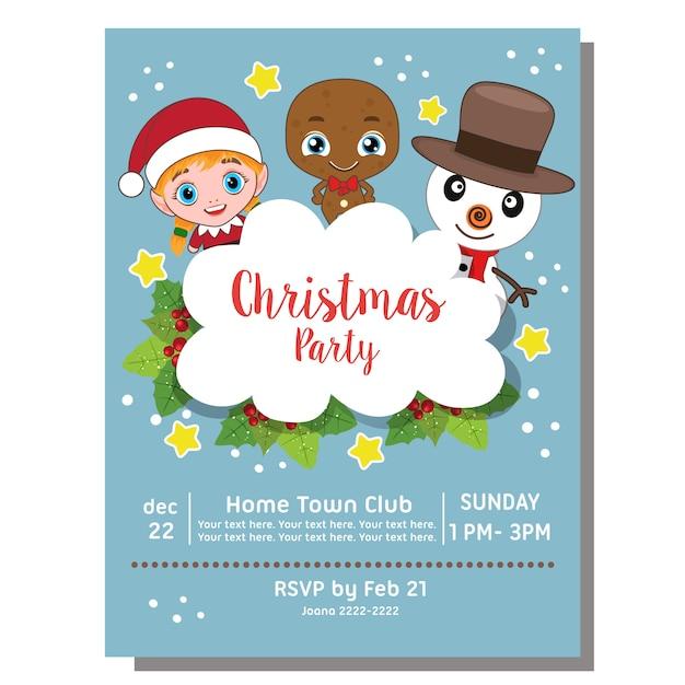 Invitaciones de navidad infantiles