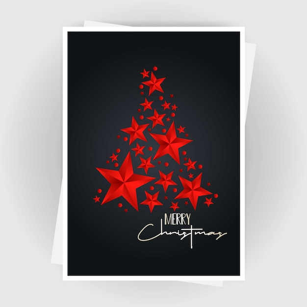 Tarjeta De Invitación De Navidad Con Diseño Creativo Y