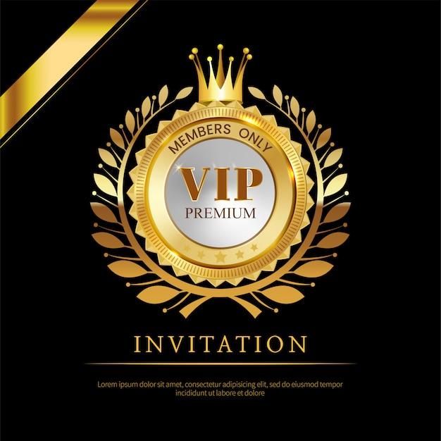 Tarjeta De Invitación Vip De Lujo Vector Premium