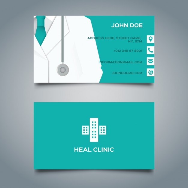 Tarjeta médica azul vector gratuito