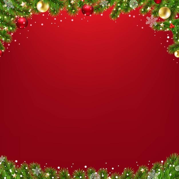 Tarjeta de navidad con árbol de navidad Vector Premium