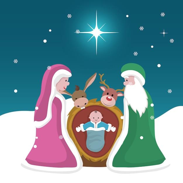 Fotos Del Nacimiento De Navidad.Tarjeta De Navidad Del Nacimiento De Jesus Descargar