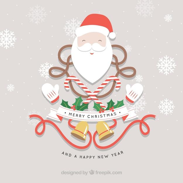 tarjeta navidea de santa claus vector gratis