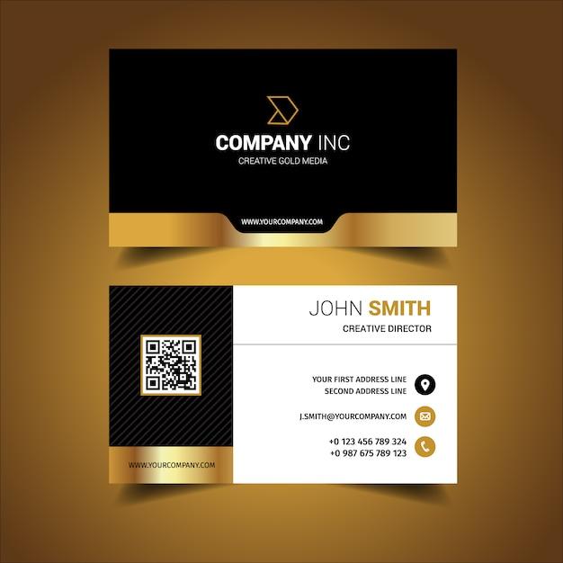 tarjeta de presentación con diseño elegante descargar vectores gratis