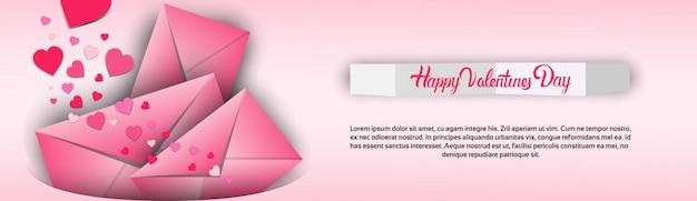 Tarjeta de regalo para el día de san valentín en forma de corazón con amor Vector Premium