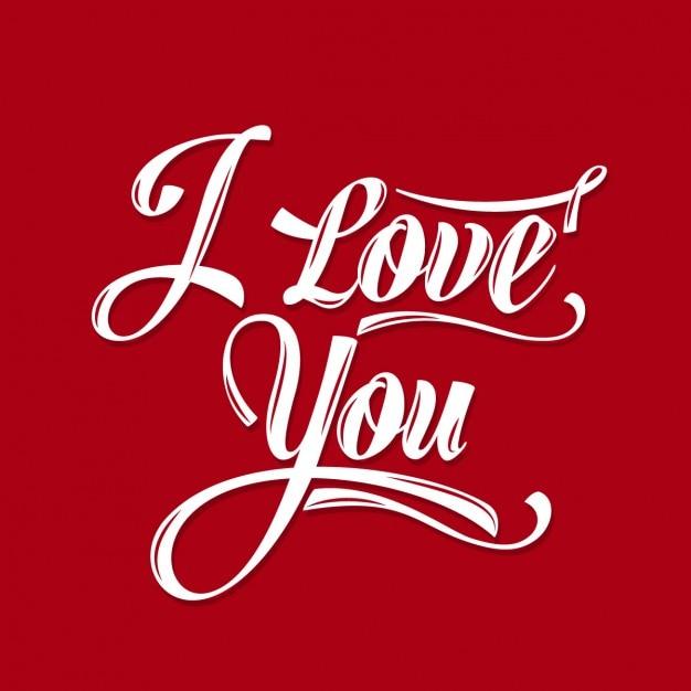 I Love You Wallpaper With Blood : Tarjeta roja de te amo Descargar Vectores gratis