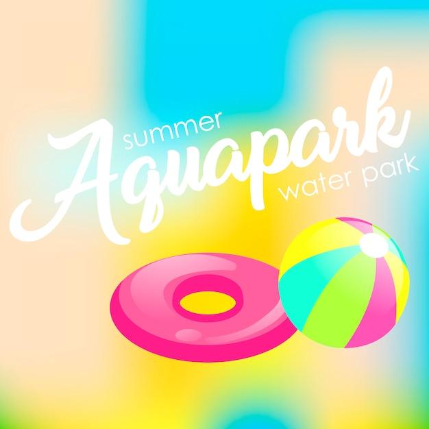 Tarjeta de verano vector gratuito