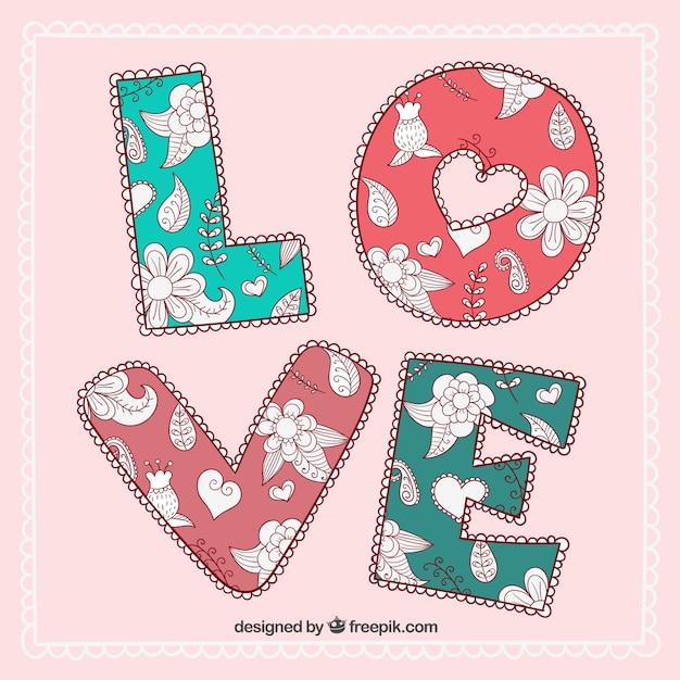 Tarjeta vintage con amor | Descargar Vectores gratis