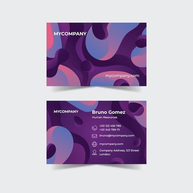 Tarjeta de visita colorida abstracta vector gratuito