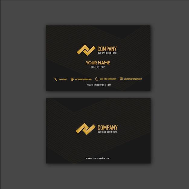 Tarjeta de visita línea de flecha y vector Vector Premium