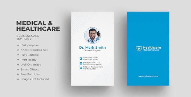 Tarjeta de visita médica Vector Premium