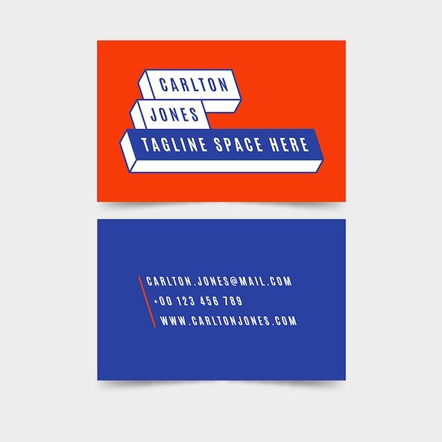 Tarjeta de visita minimalista colorida vector gratuito