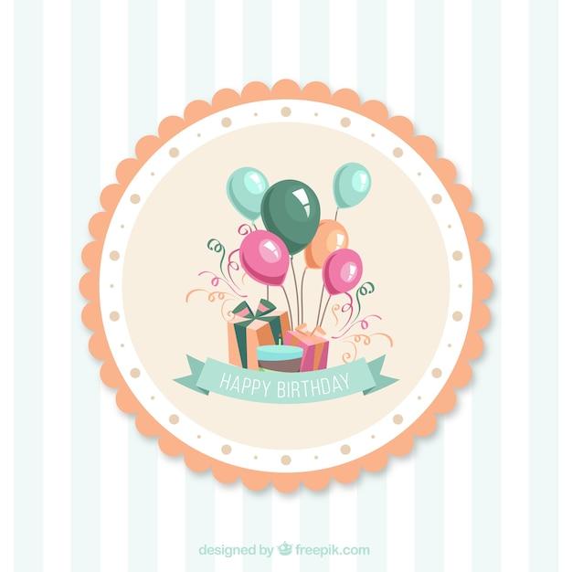 Tarjetas de cumpleaños de dibujos animados de vectores vector gratuito