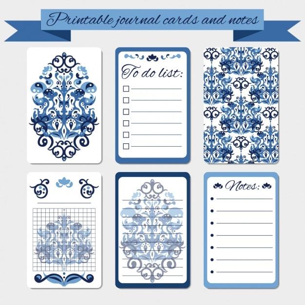 Tarjetas de diario y notas de damasco imprimibles   Descargar ...