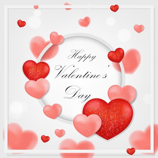 Tarjetas de felicitación del día de san valentín Vector Premium