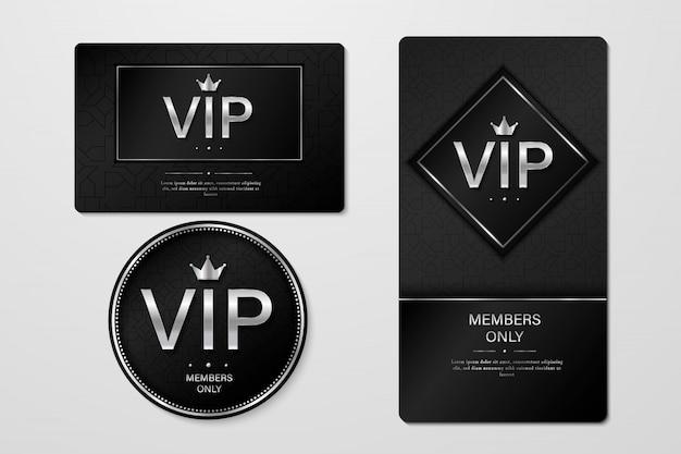 Tarjetas De Invitación Premium Para Fiestas Vip Vector Premium
