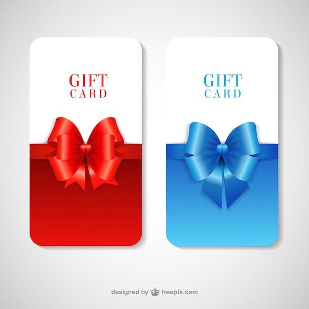 Tarjetas regalo | Descargar Vectores gratis