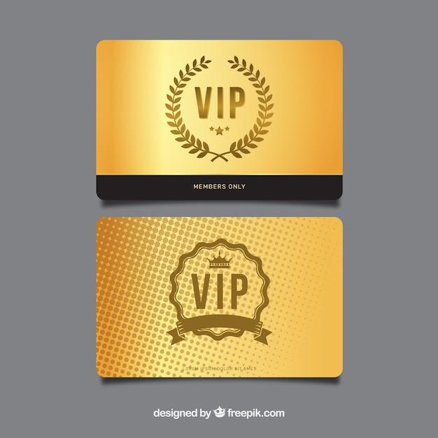 Tarjetas vip exclusivas con estilo elegante vector gratuito