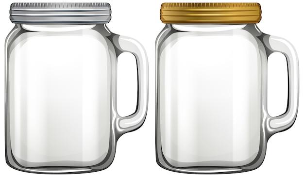 Tarro de cristal vacío sobre fondo blanco. vector gratuito