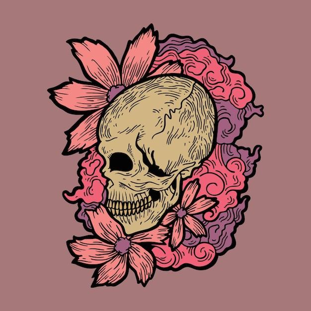 Tatto De Calavera De Flores Vector Premium Os budistas acreditam que quando buda deu seus primeiros passos na terra flores de lótus apareceram sob seus pés e você. https www freepik es profile preagreement getstarted 3090234