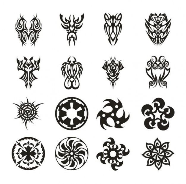 tatuaje conjunto de vectores   Descargar Vectores gratis
