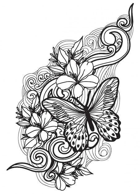 Butterfly Mariposas Para Flor Tatuaje Dibujos Wwwperfectoimagenescom