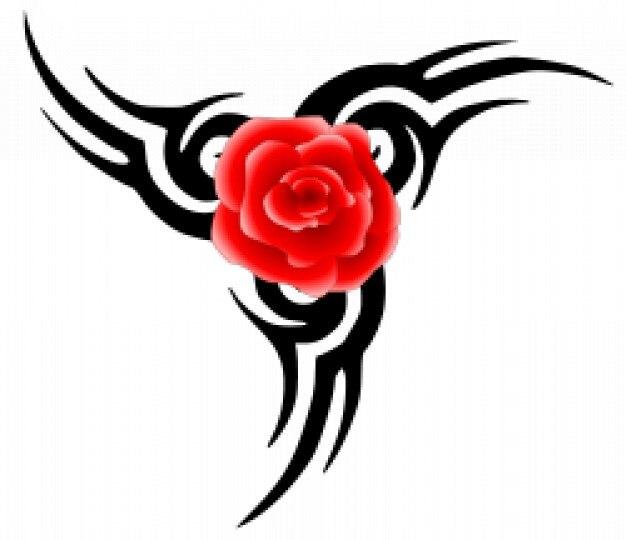 tatuaje tribal de rosa | Descargar Vectores gratis