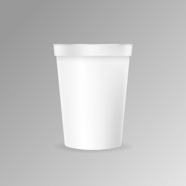 Taza de café de plástico maqueta vector Vector Premium