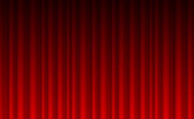 teatro cortina roja de fondo vector gratis - Cortinas Rojas