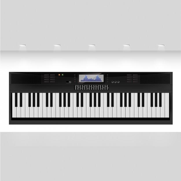 Teclado sintetizador negro vector gratuito