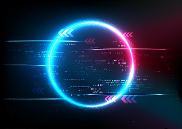 Tecnología abstracta azul rosa digital Vector Premium