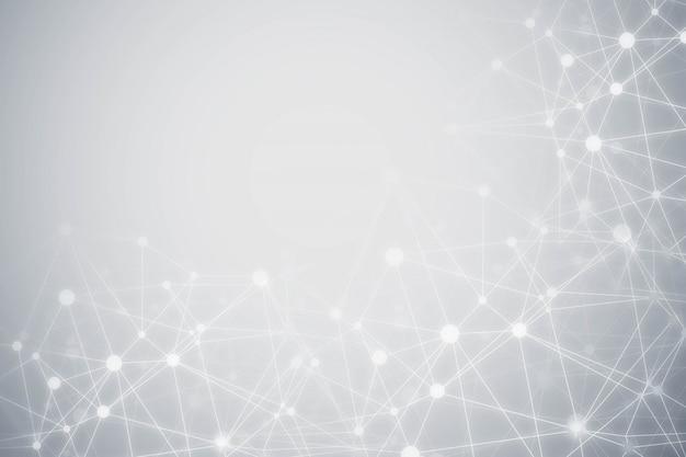 Tecnología abstracta fondo gris de partículas vector gratuito