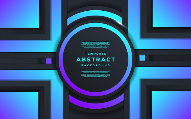 Tecnología abstracta y futurista con fondo geométrico degradado Vector Premium