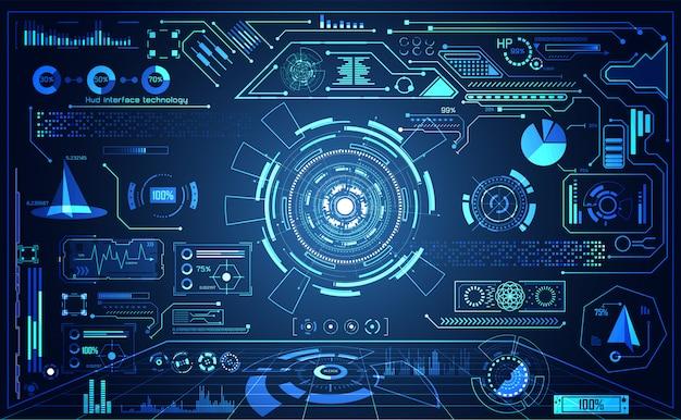 Tecnología abstracta ui futurista Vector Premium