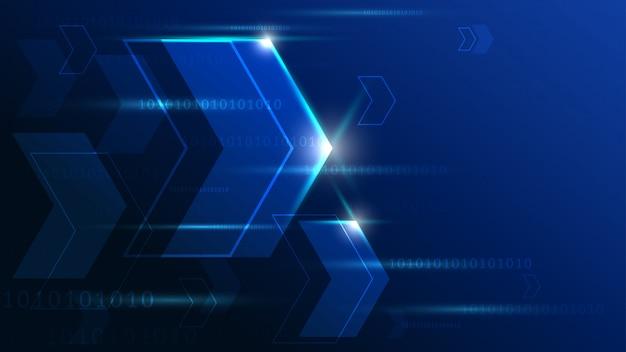 Tecnología de alta tecnología con fondo geométrico. Vector Premium