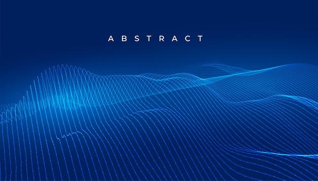 Tecnología azul líneas onduladas resumen fondo digital vector gratuito