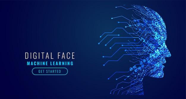 La tecnología digital se enfrenta a la inteligencia artificial vector gratuito