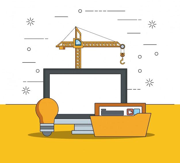Tecnología dispositivo mantenimiento soporte concepto caricatura vector gratuito