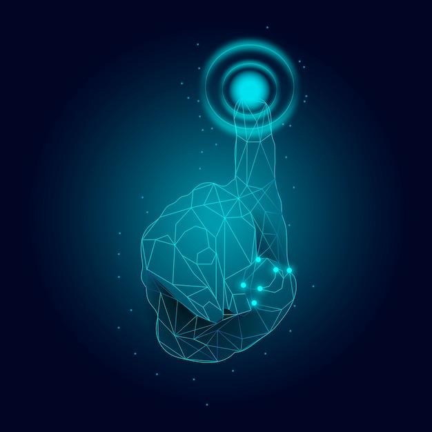 Tecnología de escáner de huellas dactilares vector gratuito