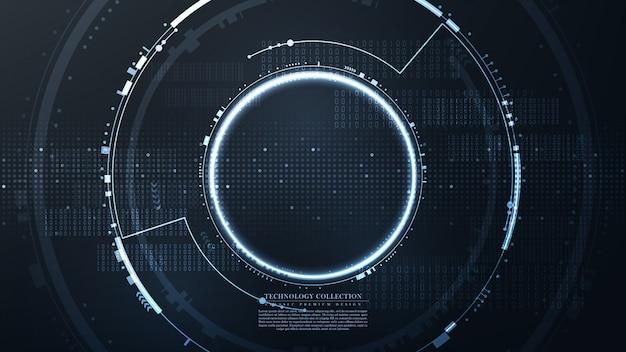 Tecnología futurista hexagonal fondo abstracto vector Vector Premium