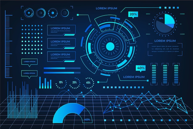 Tecnología futurista infografía vector gratuito
