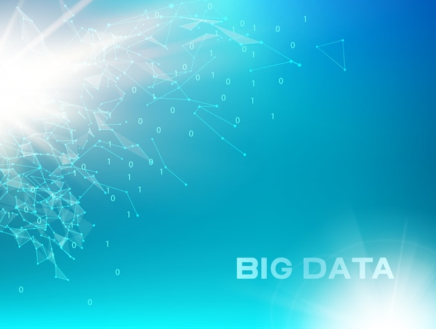 Tecnología informática y big data. vector gratuito