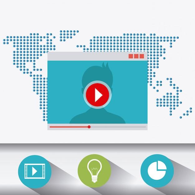 Tecnología, internet y multimedia. vector gratuito