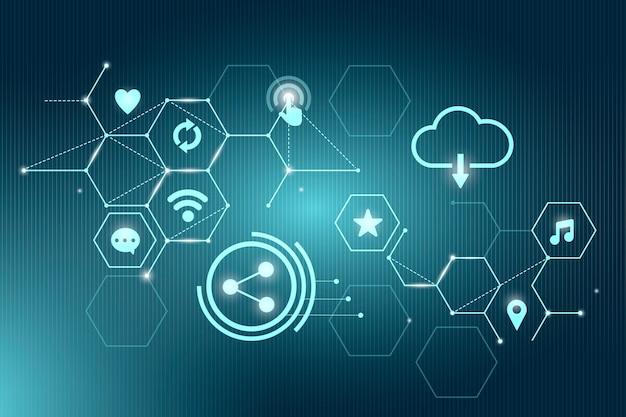 Tecnología de internet en la nube vector gratuito