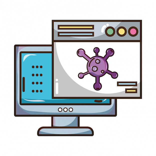 Tecnología de seguridad cibernética Vector Premium