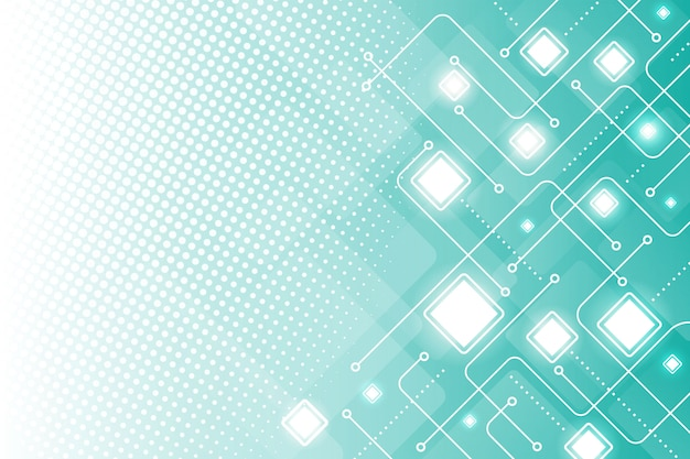 Tecnología de semitono de fondo moderno vector gratuito