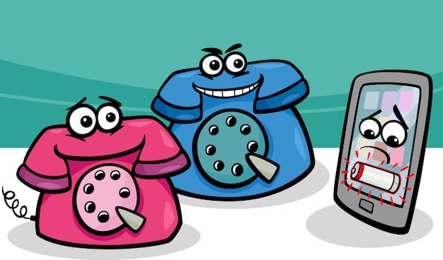 Teléfono Inteligente Con Dibujos Animados De Teléfonos
