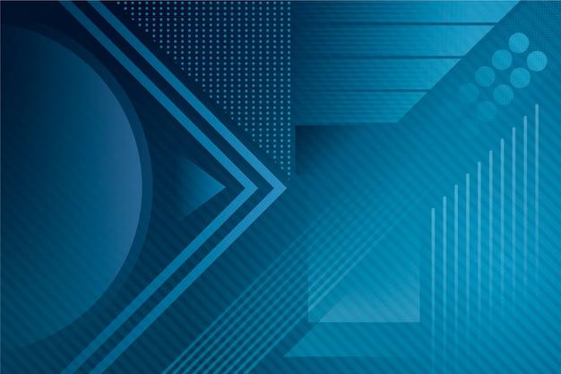 Tema azul clásico abstracto para fondo de pantalla vector gratuito