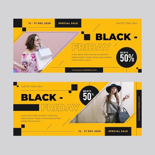 Tema de banner de viernes negro vector gratuito
